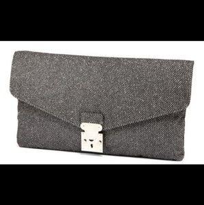 Cosmopolitan Black Sparkly Clutch Bag